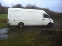 mercedes bens 311 LWB great van, two prevous owners, starts firts time, well maintained, work horse