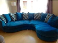 Large curve corner sofa and cuddle chair