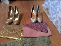 Size 6 brand new glitter heels