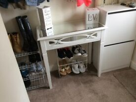 Lovely Mirror Top Drawer Table.