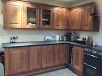 Walnut shaker style Howdens kitchen