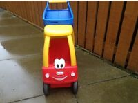 Little tikes cozy coupe shopping cart red