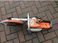 STIHL SAW TS400 it is a used item and has the usual marks /scratches Also has a blade with it
