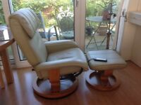 Massage chair and stool Swedish style nice cond