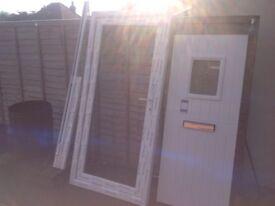 UPVC FRONT DOOR and frame brand new unused 2010x980