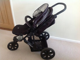 Britax B-smart pushchair including rain cover excellent condition £30.Also matching car seat.£10.