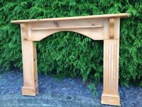 PINE FIRE SURROUND BARGAIN TO CLEAR -can deliver