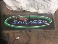 Team Saracen neon sign