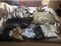 Men's clothing bundle large and 34 w 34l some new and unworn some like new