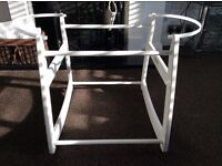 Baby Moses Basket White Wooden Rocker/Stand