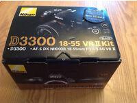 Nikon D3300 SLR with 18-55mm VR 11 Lens