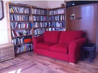 Bookshelves, pine URGENT (set of three 2 metres x 1metre)