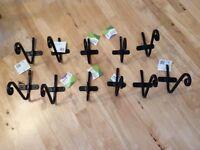 A set of 11 brand new hanging basket brackets.