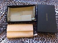 100% auth Bottega veneta continental long wallet in flamingo color