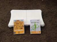Wii fit plus, wii Music and balance board