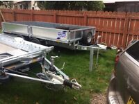 Ifor Williams flatbed car tranporter trailer 12x6 ft5