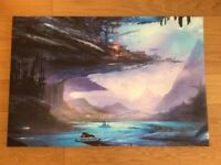 Brand New Canvas print of a sci-fi futuristic city (with box)