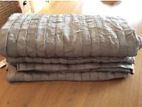 John Lewis Shimmer Natural Bedthrow 250 x 260 cm