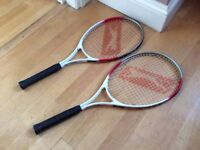 2 Slazenger Tennis Rackets FOR SALE