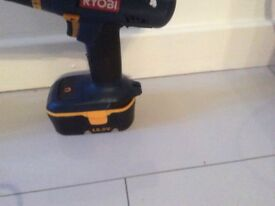 Ryobi 18 volt drill with charger and spare battery good clean condition