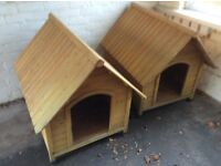 """Pair of wooden kennels in good condition. 35"""" x 27""""."""