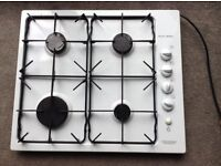 Gas hob, while and black