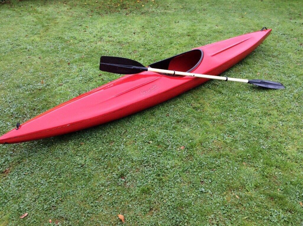 Fibreglass Kayak and paddle