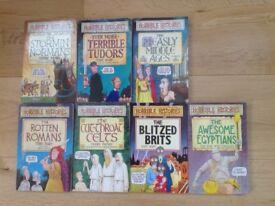 7 x Horrible Histories Books