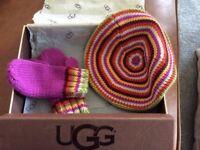 UGG child's hat and gloves set
