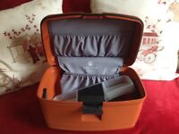 Carlton travel make-up case with built in combination lock not used nice quality