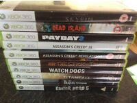 XBox 360 Games only assorted