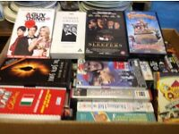 Boxes of VHS videos Free Free Freee