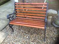 Vintage cast iron garden bench