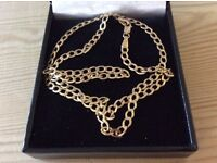 """9ct gold curb chain 18"""""""