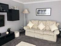 Three Piece Suite -Cream -Good Quality
