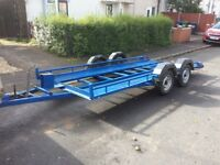 Twin axle car transporter trailer