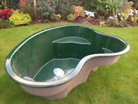 Fibreglass garden pond unused ex display .