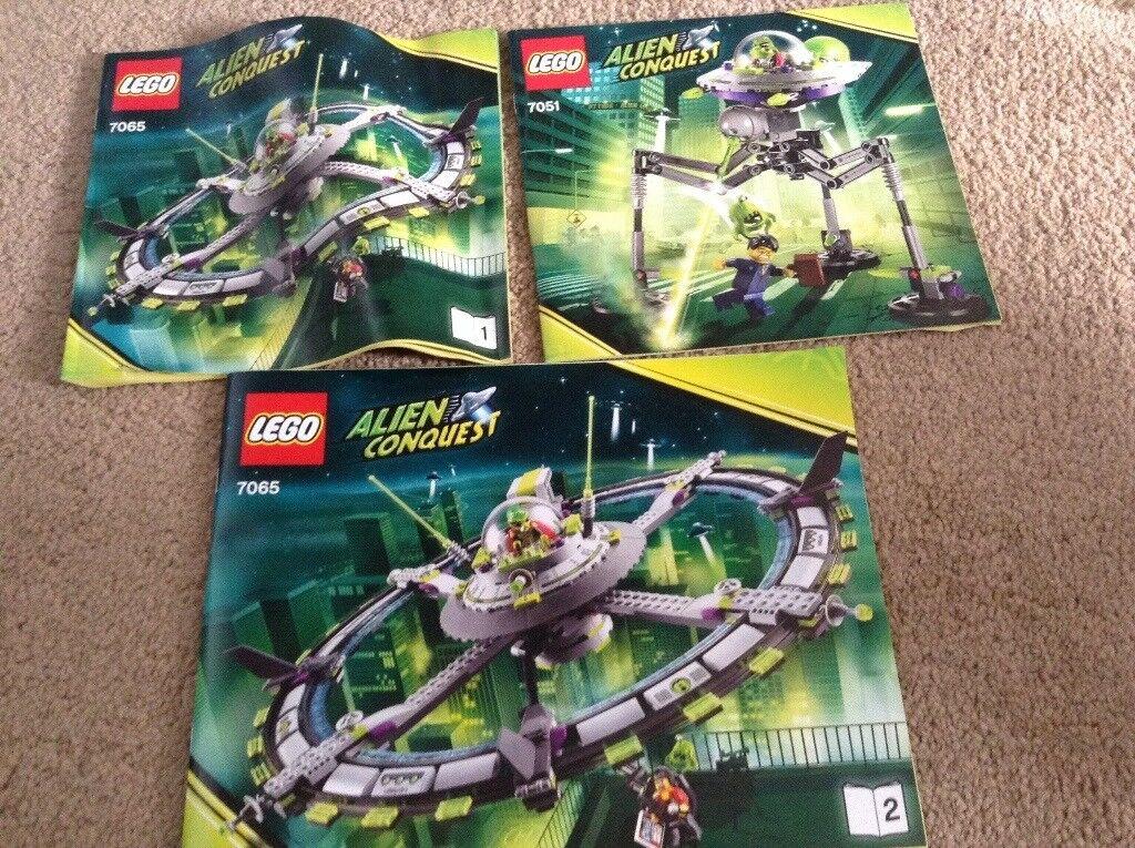 Lego Alien conquest 7065 & 7051 age 8-14