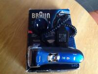 Never used !!!! Braun series 3-40 rechargeable shaver. Vgc power lead !!!