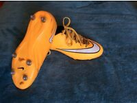 Nike mercurial metal stud football boots size 5