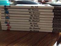 A set of ten Mr Men books