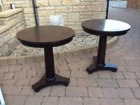 Two matching circular Coffee Tables