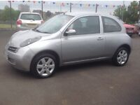 NISSAN MICRA URBIS 1.2 2005 only 87000 miles FSH MOT ONE YEAR Free 30 day/1000 mile warranty
