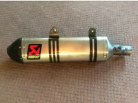 Akrapovic end can KTM 4 stroke models 2004 to 2016