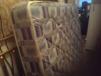 Double bed,matching mattress and base,£65.00,immaculate,