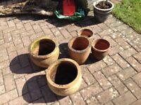 Vintage Terricotta pots