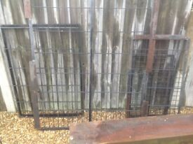 Steel frame and various mesh sections ideal for covering fish pond