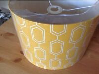 Large Lampshade. Yellow. Unopened Unwanted Gift. Still in original wrapping.