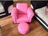 Childs armchair and footstool