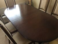 Fully refurbished Nathan Dining Table with 2 Carver and 4 Dining Chairs